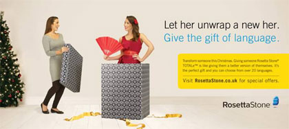 Rosetta Stone reveals new positioning in Christmas marketing push
