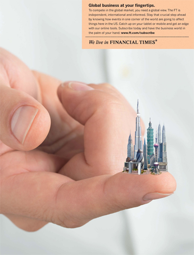 Financial Times 'business at your fingertips' campaign by DDB