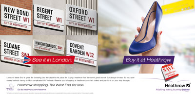 Heathrow targets shoppers with foreign-language UK ad