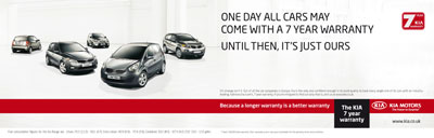 Kia hit by setback for seven-year warranty ads