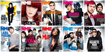 NME relaunches with 10 different cover stars