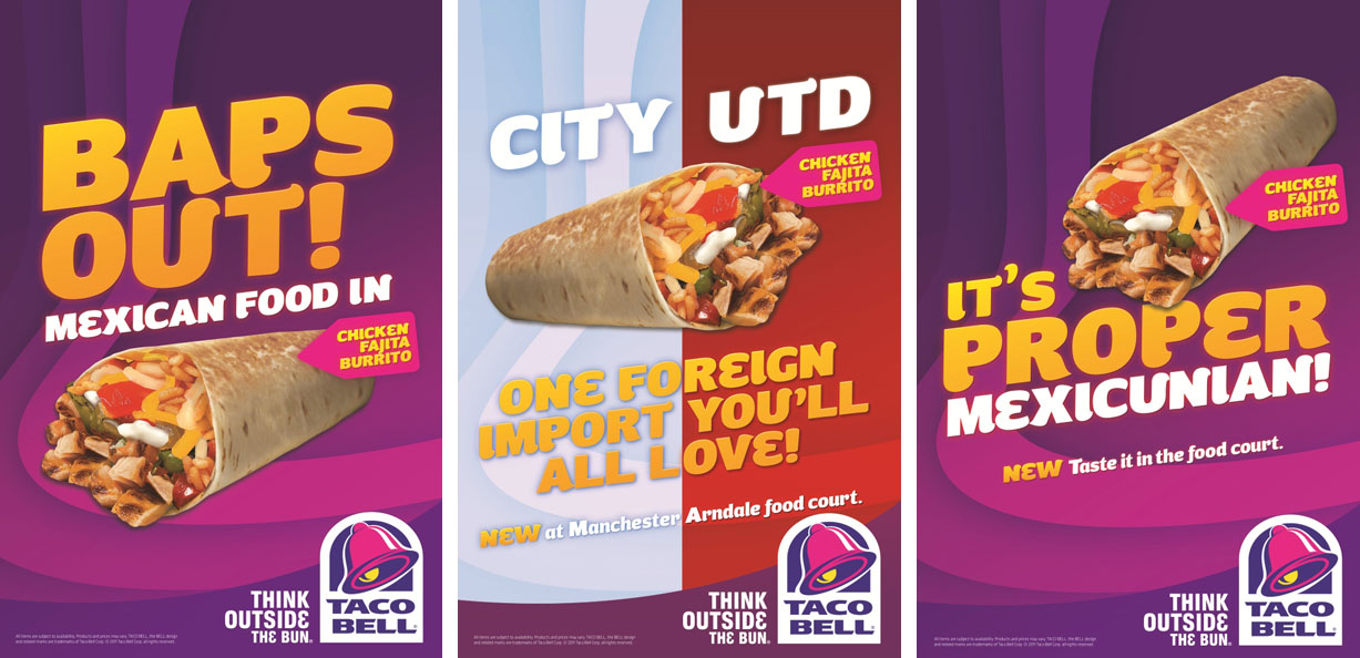 Taco Bell supports third store opening with tongue-in-cheek outdoor ads