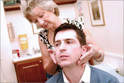 Re-examining the patient thoroughly may reassure him that his concerns are being taken seriously