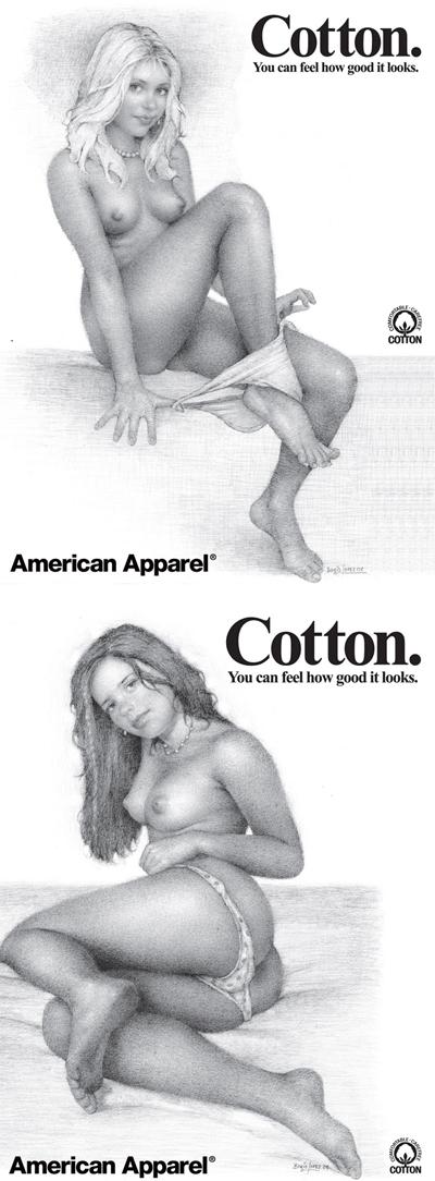 American Apparel camapign by artist Boris Lopez