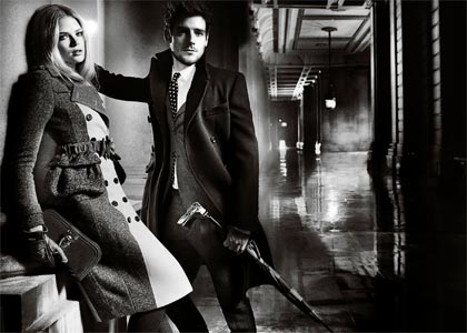 Burberry ad campaign stars actress Gabriella Wilde and musician Roo Paines