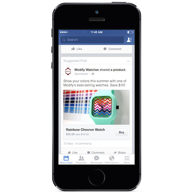 How Facebook's 'Buy' button will look