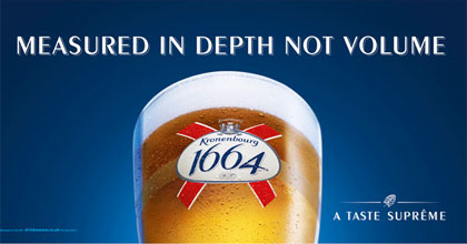 Kronenbourg 1664 revamp to highlight provenance and taste
