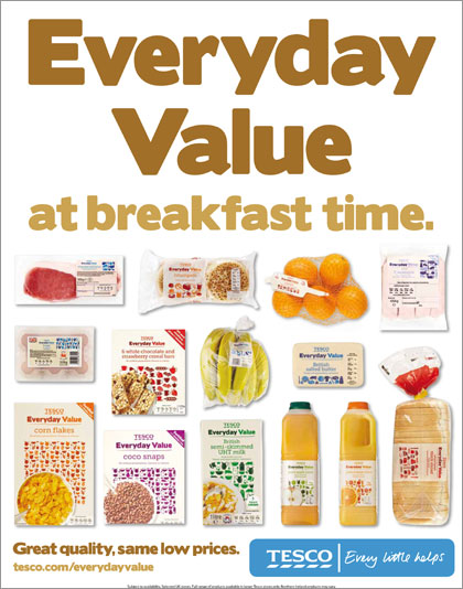 Tesco 'everyday value' campaign