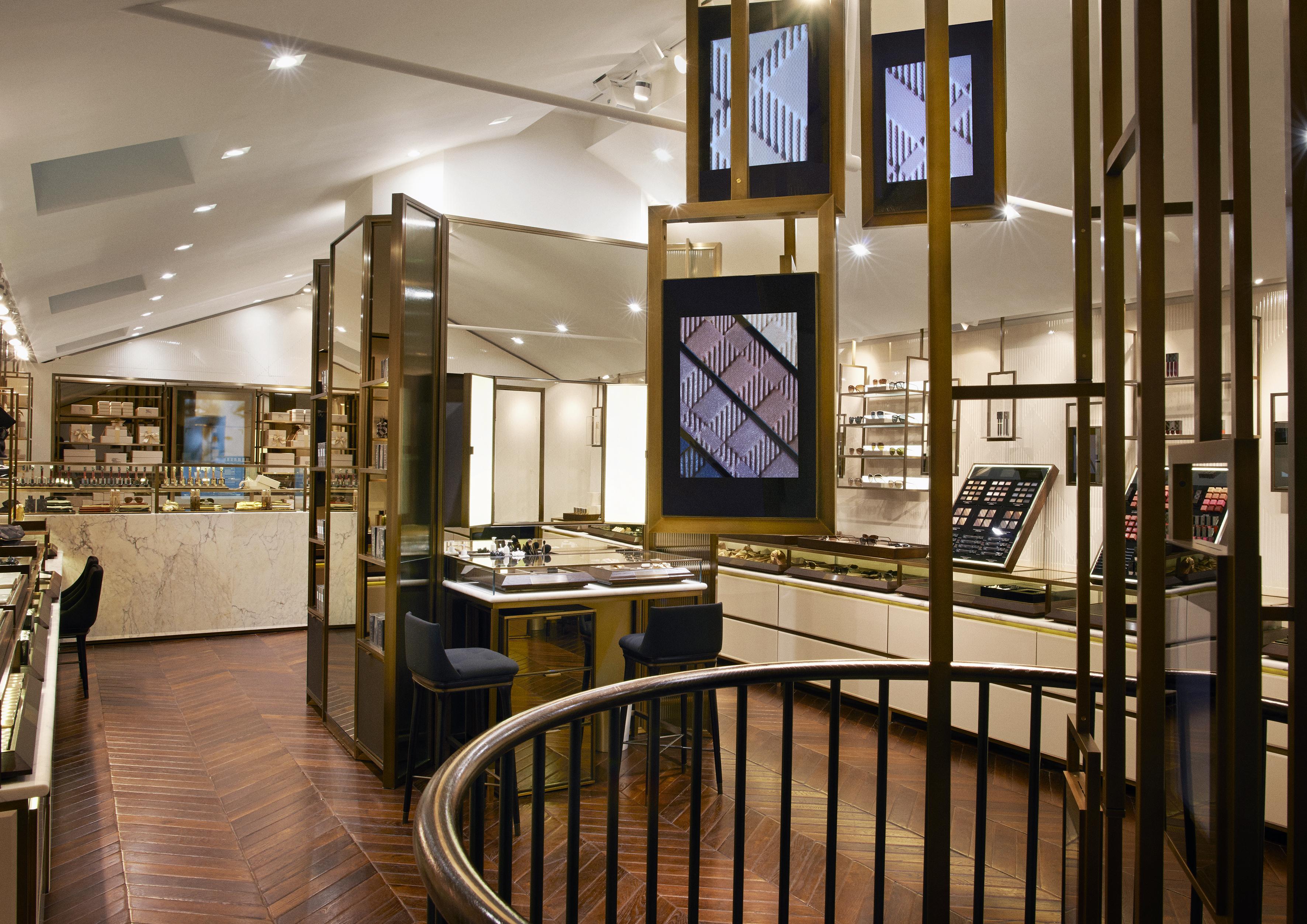 Burberry Covent Garden store interior