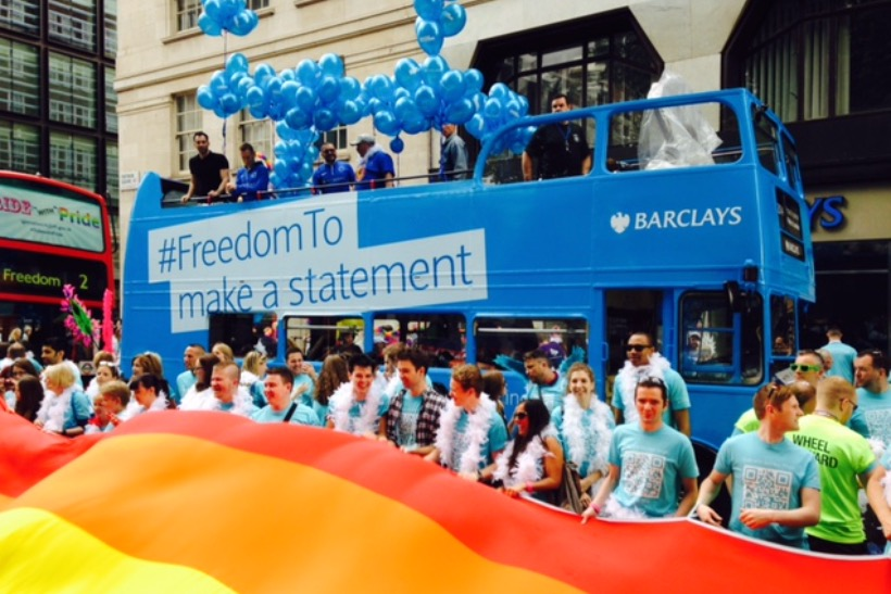 Barclays at Pride in London in 2014