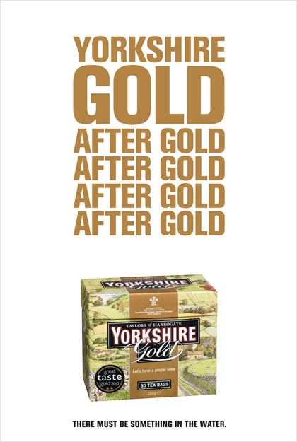 Yorkshire Tea mints Gold tactical ad
