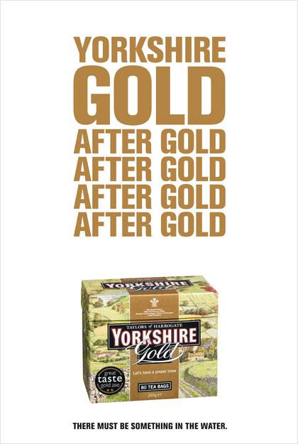 Yorkshire Tea mints Gold tactical ad