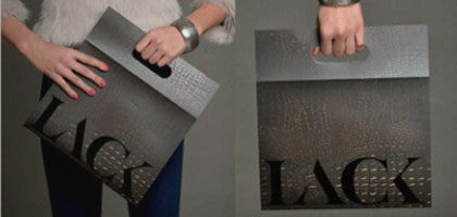 Hungarian fashion publication, Lack, is redesigned to look like a handbag