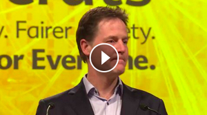 Nick Clegg, leader of the Lib Dems