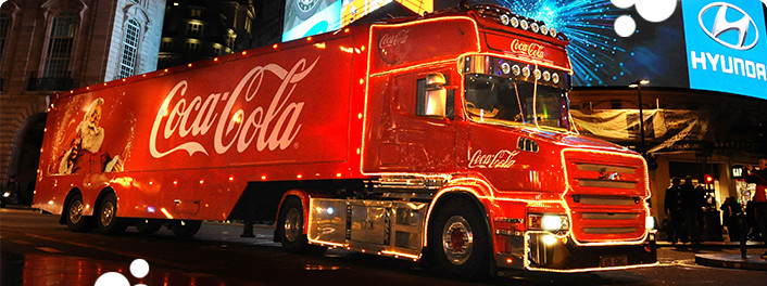 Coca-Cola's trucks campaign returned this year