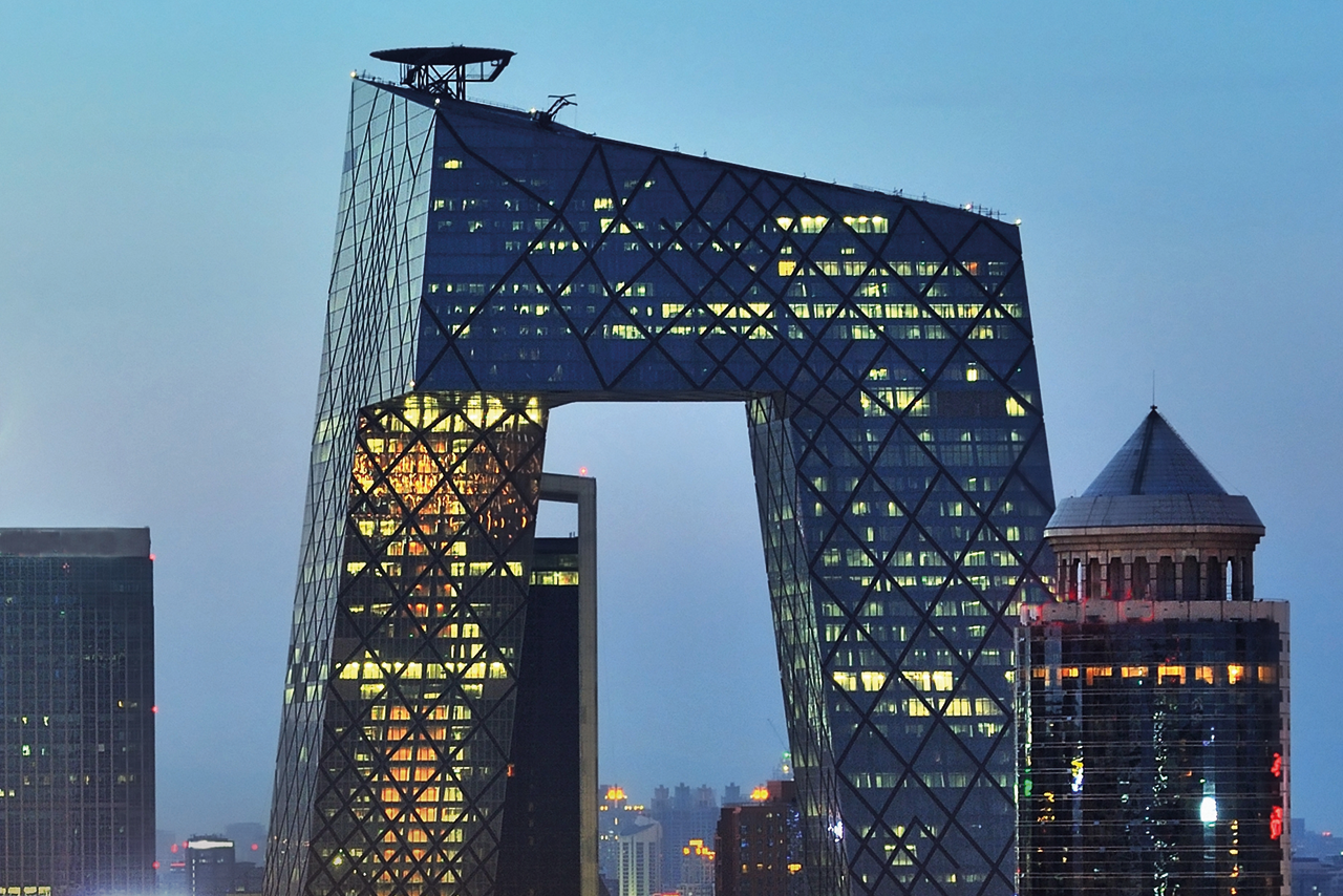 Dutch-designed CCTV building, Beijing