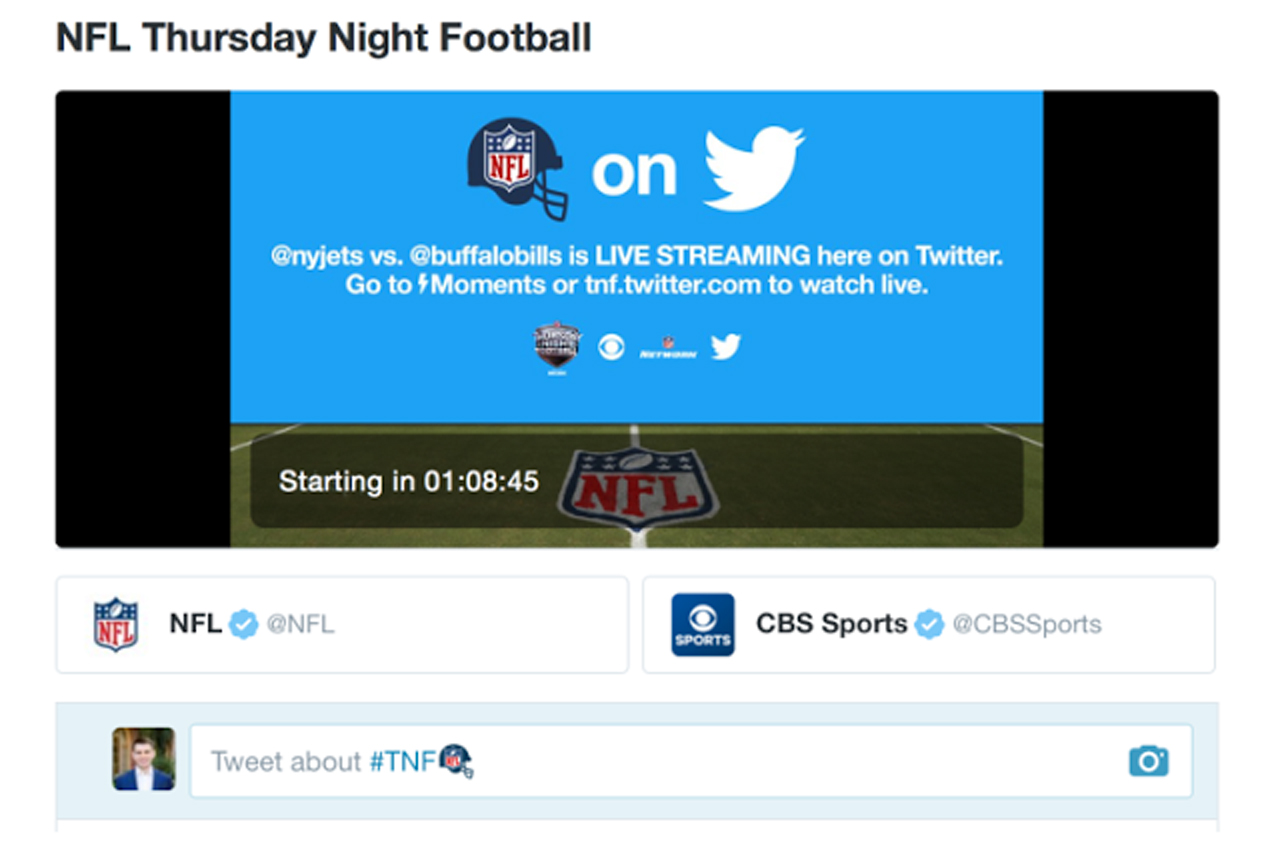 Twitter: live streamed NFL games on the platform