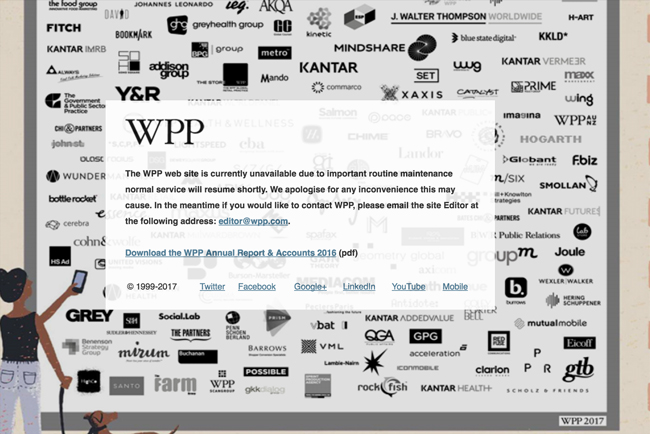 WPP hit by 'cyber attack' - Brand Spur