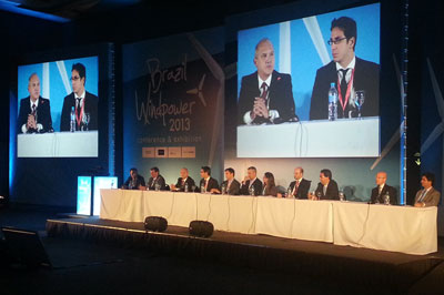 Manufacturers and suppliers session, day three at Brazil Windpower 2013