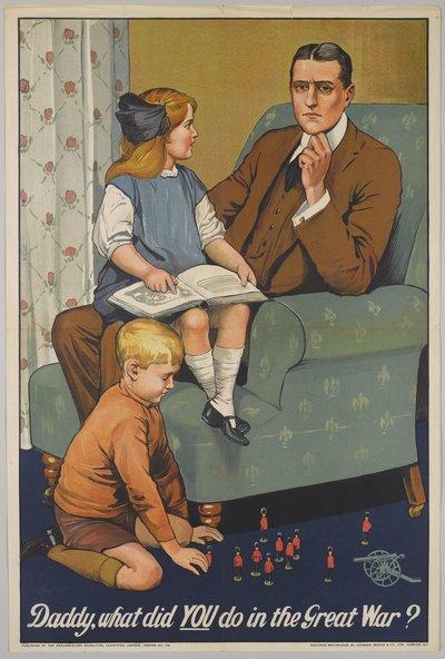 Recruitment poster from the First World War