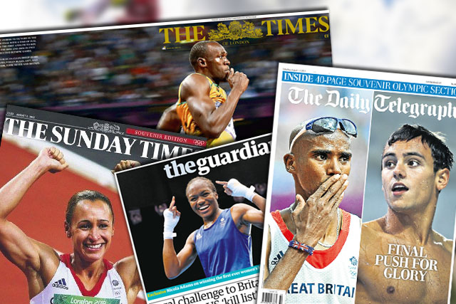 Newspaper Olympics covers