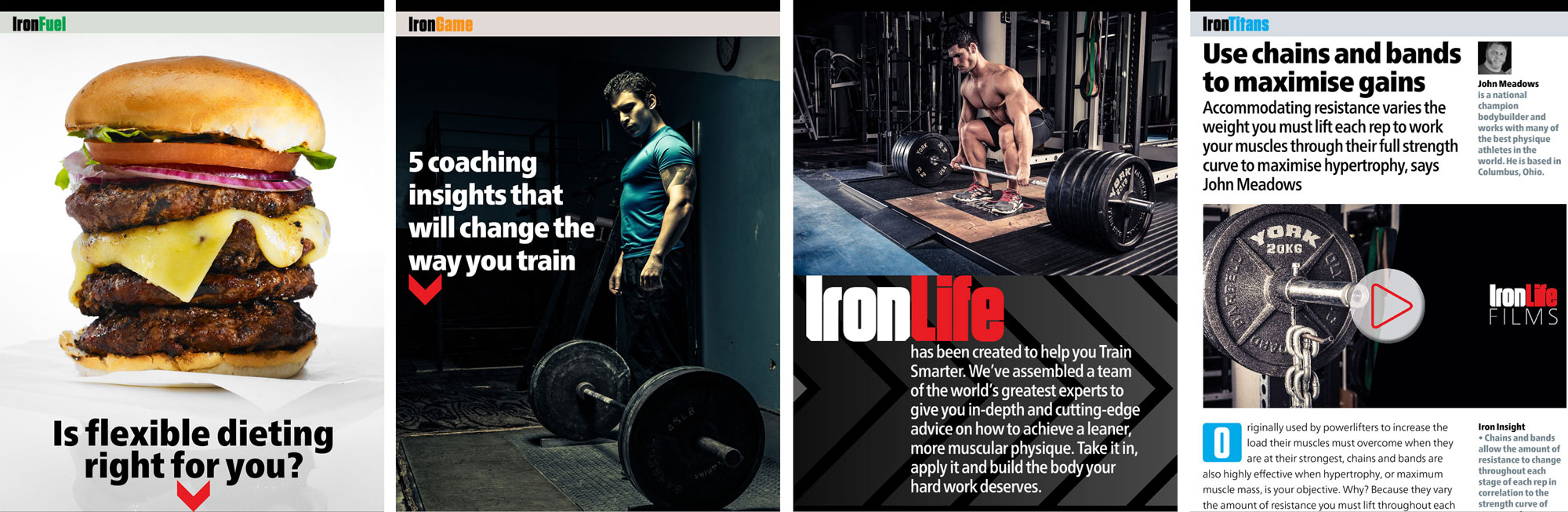 """IronLife: """"addresses the things that our users don't like about the current crop of fitness mags, such as questionable coverlines and inconsistent messages"""""""