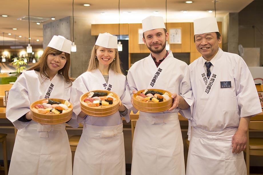 Sushi making, Japan