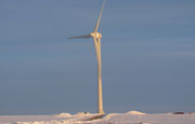 A Goldwind 1.5MW turbine at the Pipestone wind farm in Minnesota