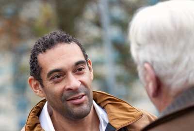 Community organiser Richard Parkes