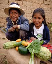 Bolivian locals Ruben [L] and Juana