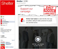 Shelter's Facebook page