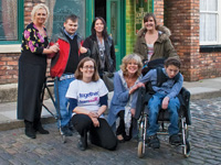 Coronation Street stars with service users of the Together Trust