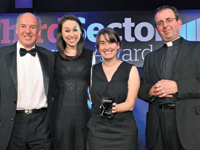 Nick Eastcott, chairman of the GAS partnership, Jo Stewart, AfriKids' communications and events coordinator, and Carly Adams, AfriKids' porgrammes and finance officer with host Rev Richard Coles