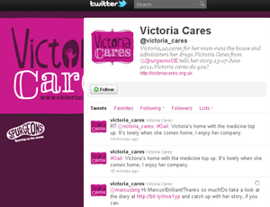Victoria Care's Twitter page