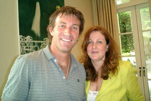 Pat Cash and Malta's Marie Anne Barthet Brown