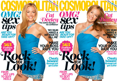 Cat Deeley in 3D Cosmo special edition