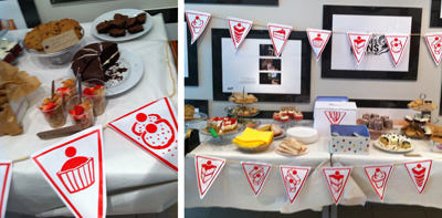 DDB London staff collected more than £500 from their cake sale