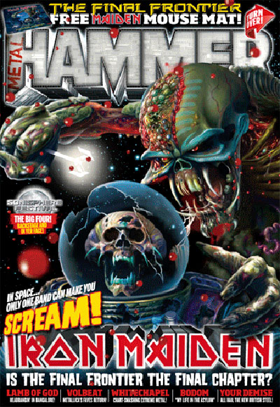 Metal Hammer celebrates return of Iron Maiden with 3D cover