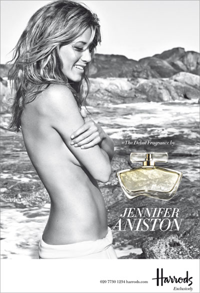 Jennifer Aniston launches her perfume at Harrods