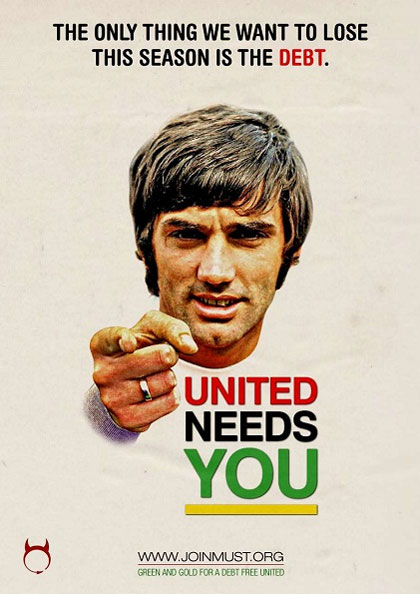 The Manchester United Supporters Trust (Must) campaign featuring club legend George Best
