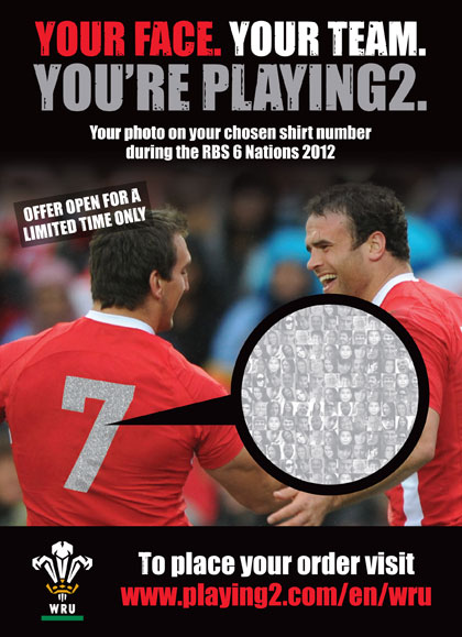 Playing2 and the Welsh Rugby Union (WRU) team up for shirt project