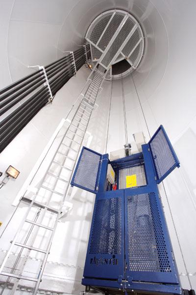The interior of Clipper's Liberty turbine