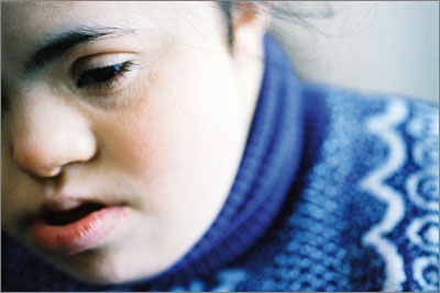 People with Down's syndrome may struggle to describe their symptoms (Photograph: SPL)