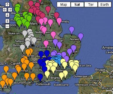 GP pathfinder consortia map