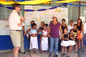 FICO chief executive Mark Green speaks at Buena Vista School