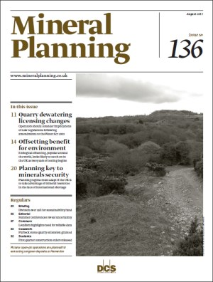 Mineral Planning August 2011