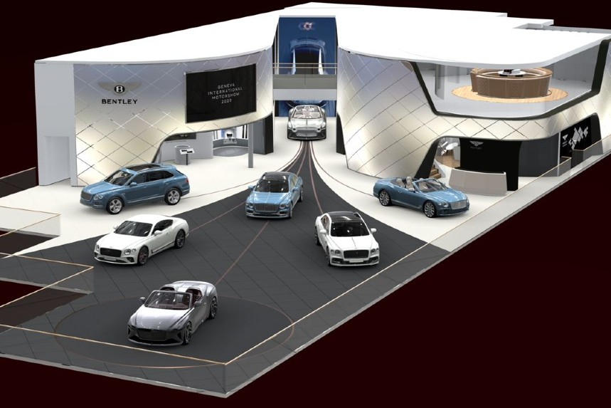The planned Bentley stand at Geneva