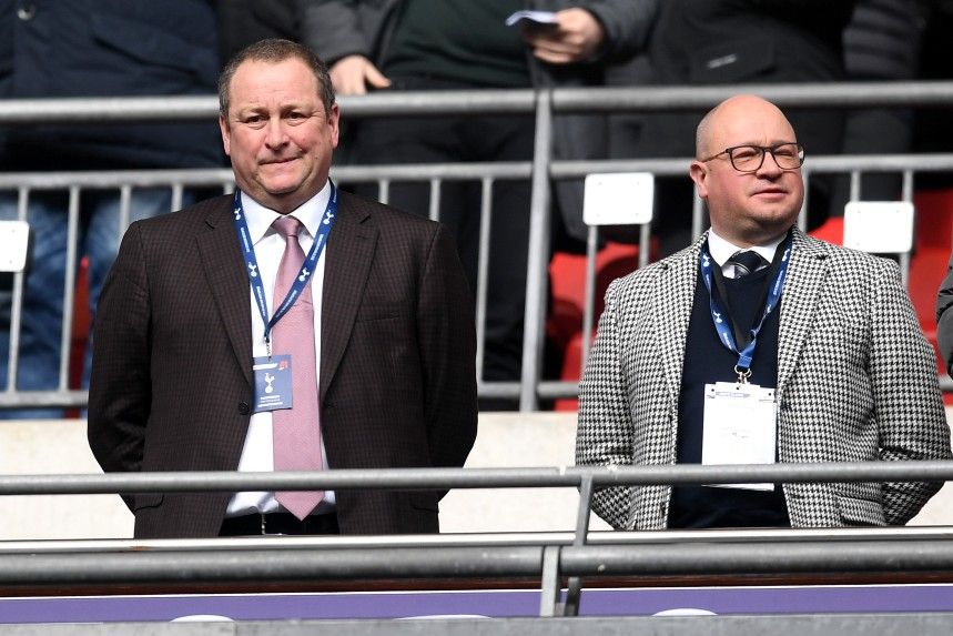 Mike Ashley (left) with with Lee Charnley