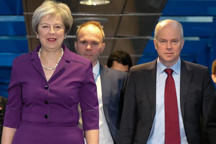 Robbie Gibb with Theresa May