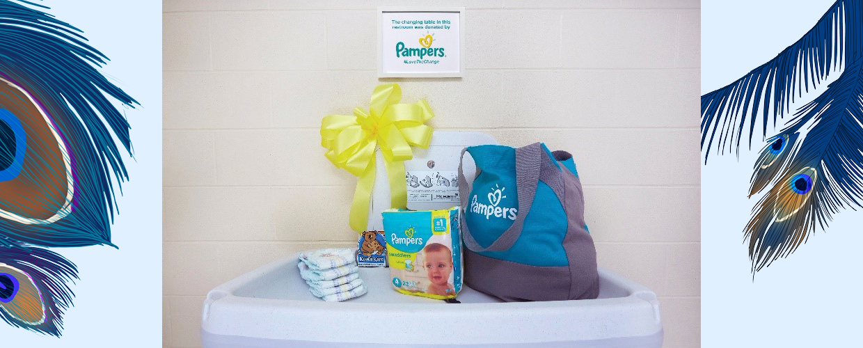 Pampers #LovetheChange Changing Tables campaign